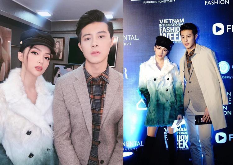 Anh chàng có quan hệ khá thân thiết với hoa hậu Hương Giang.