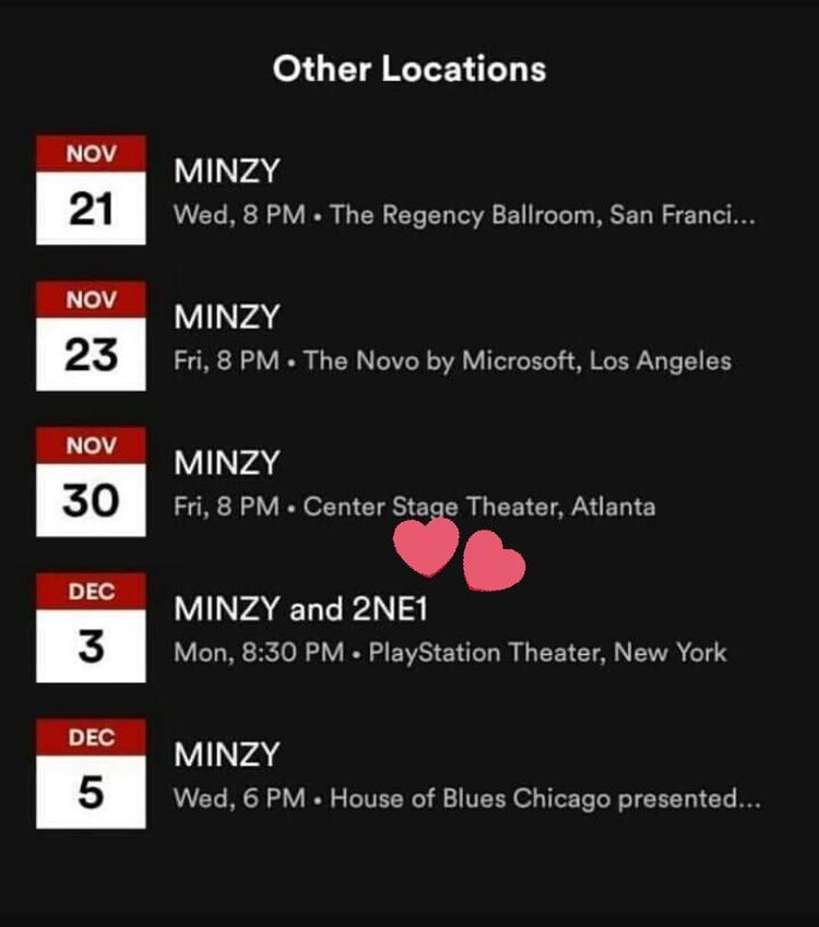Tour diễn của Minzy tại Mỹ có sự xuất hiện của 2NE1.