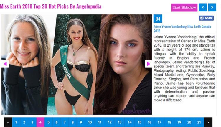 Ngay từ khi bắt đầu cuộc thi Miss Earth Canada đã được đánh giá cao