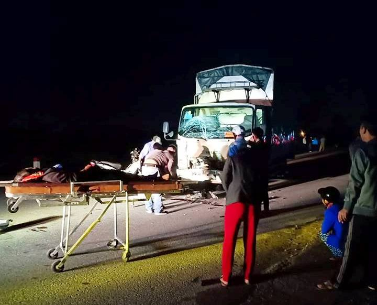 Hiện trường vụ tai nạn 3 người tử vong.