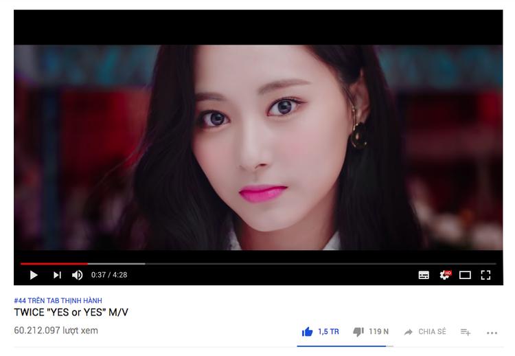 Lượt like hiện tại của Yes Or Yes là 1,5 triệu (sau 8 ngày phát hành).