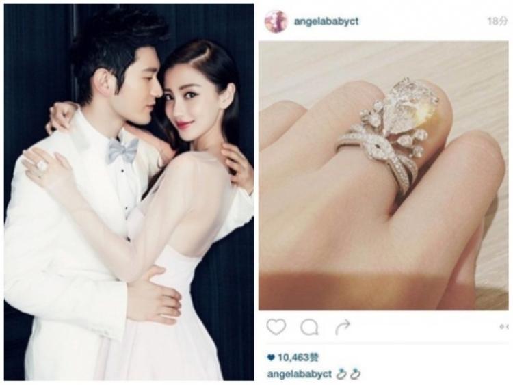 Đến khi sang Pháp chụp ảnh cưới, nam diễn viên tiếp tục tặng cho hôn thê chiếc nhẫn đính 74 viên kim cương (trong đó viên kim cương lớn nhất nặng 5,53 cara có giá trị lên đến hàng tỉ đồng).