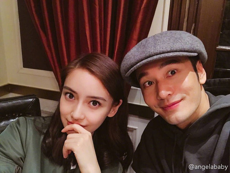 """Năm ngoái, Angela Baby đăng tải bức ảnh trong sinh nhật Huỳnh Hiểu Minh cùng lời nhắn: """"Chúc mừng sinh nhật anh yêu. Đúng như anh nói, chúng ta ngày càng trẻ và hạnh phúc""""."""