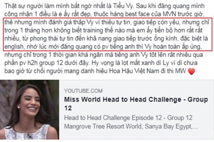"""Fan Việt thi nhau """"lật mặt"""" và 100% tin tưởng, ủng hộ cho Tiểu Vy."""