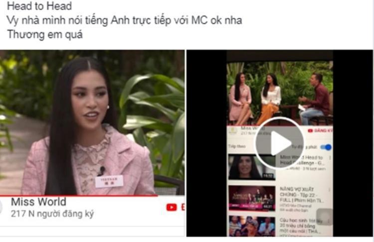 Fan Việt đã thôi lo lắng về khả năng tiếng Anh của Tiểu Vy.