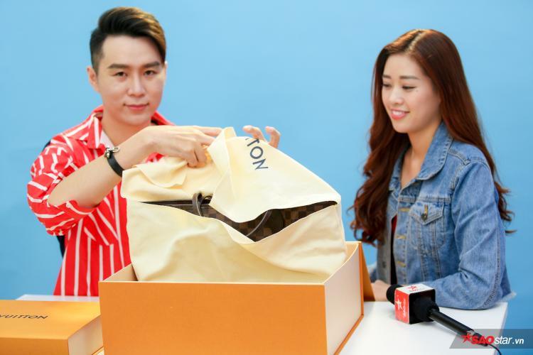 Khánh Vân chia sẻ, cô từng mua một chiếc túi LV never full nhưng không thể nào phân biệt được sự khác nhau giữa túi thật và giả.