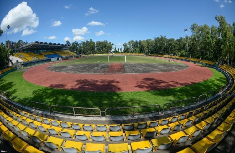 Sân vận động Panaad, thành phố Bacolod, Philippines với hạ tầng thuộc hàng kém nhất AFF Cup 2018.