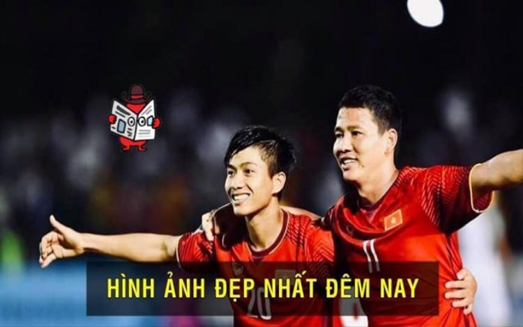 Chiến thắng gọi tên hai cầu thủ Văn Đức và Anh Đức của đội tuyển Việt Nam.