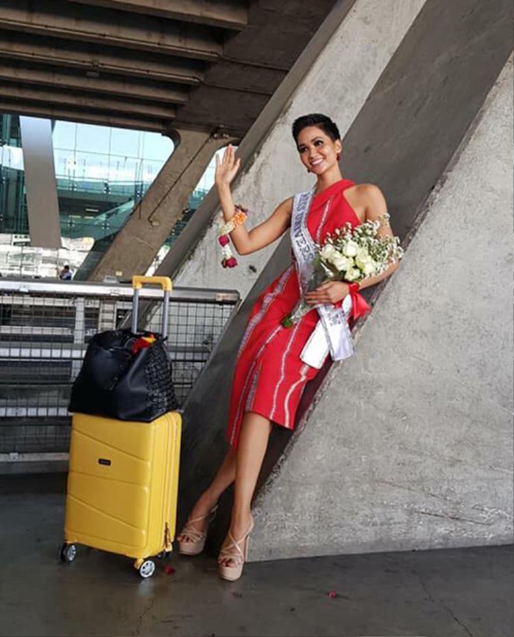 Hoa hậu HHen Niê ơi, mang 12 vali đi thi Miss Universe 2018 đã xài đến đâu rồi?