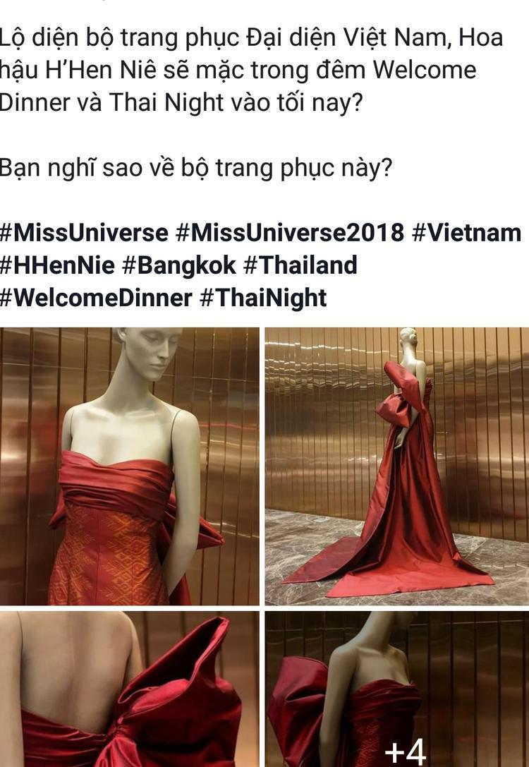 Tuy nhiên, trên một diễn đàn chuyên về hoa hậu lại cho rằng, chiếc váy mà H'Hen Niê diện mang tông màu đỏ, cúp ngực.