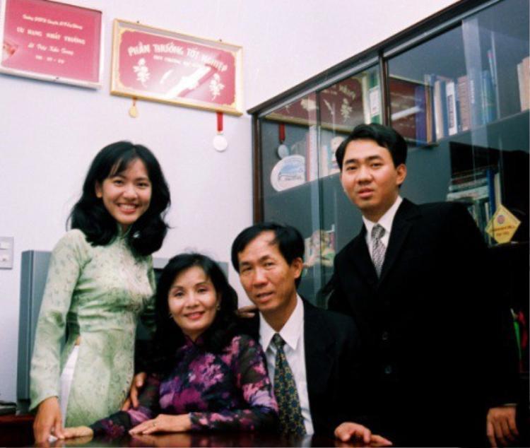Gia đình bà Lê Diệp Kiều Trang.
