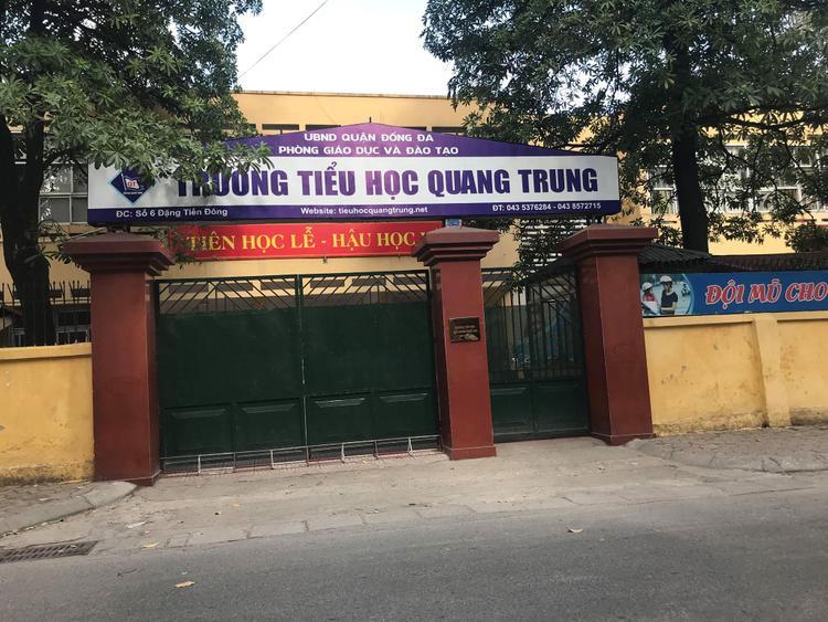 Trường Tiểu học Quang Trung, nơi xảy ra sự việc