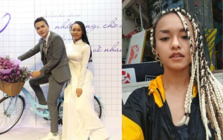 Chẳng bao giờ chịu hiền,  Mai Ngô tiếp tục khiến fan ngã ngửa với mái tóc thắt bím rết huyền thoại