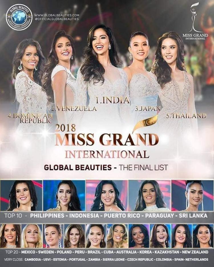 Hoa hậu Hòa bình Quốc tế - Paraguay cũng không được xếp trong Top 5.