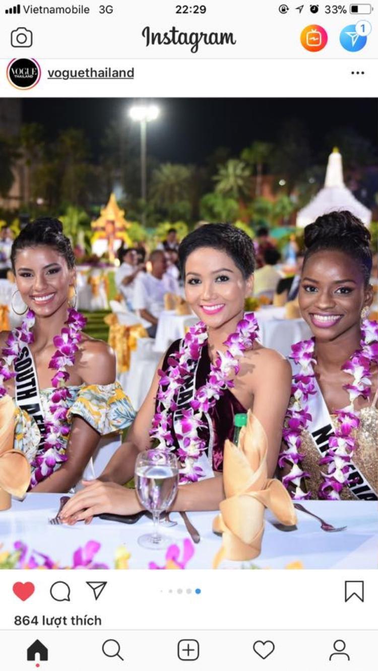 Hình ảnh H'Hen Niê xuất hiện trên Vogue Thái Lan được fan tấm tắc khen ngợi.