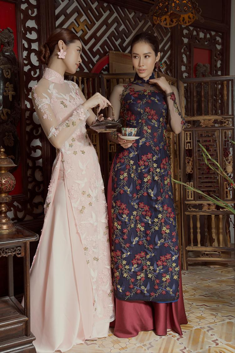Khánh Vân - Phan Thu Quyên thể hiện những thiết kế tinh tế