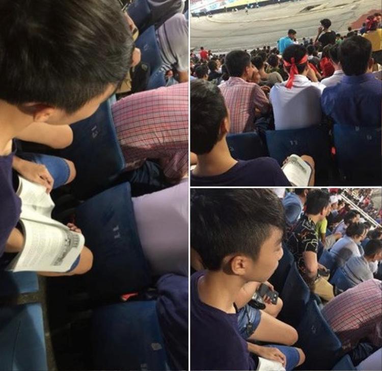 Vừa xem bóng đá nhưng không được quên nhiệm vụ quan trọng: ôn bài.
