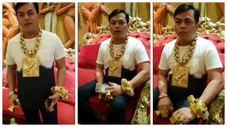 Đại gia Việt đeo 13 kg vàng 'nổi như cồn' trên báo quốc tế