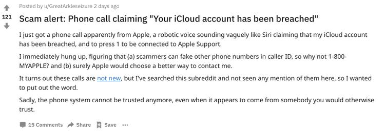 Nếu có người tự xưng là nhân viên Apple gọi cho bạn, tốt nhất hãy cẩn thận kẻo bị lừa