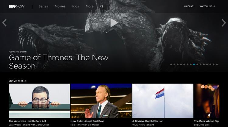 Dịch vụ video theo yêu cầu, sở hữu bởi HBO.