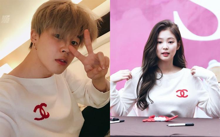 Sự đụng hàng nhau trong mẫu áo này khiến các fan đặt ra nghi vấn hẹn hò giữa hai thành viên thuộc các nhóm nhạc đình đám ở Hàn Quốc.