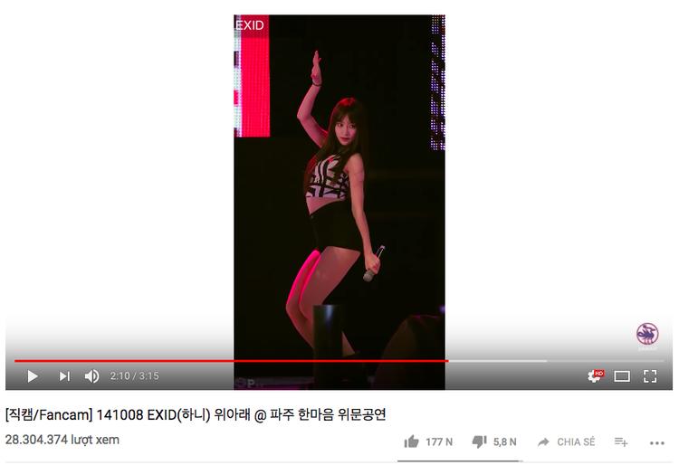 Hiện tại đã đạt hơn 28 triệu lượt xem trên Youtube.