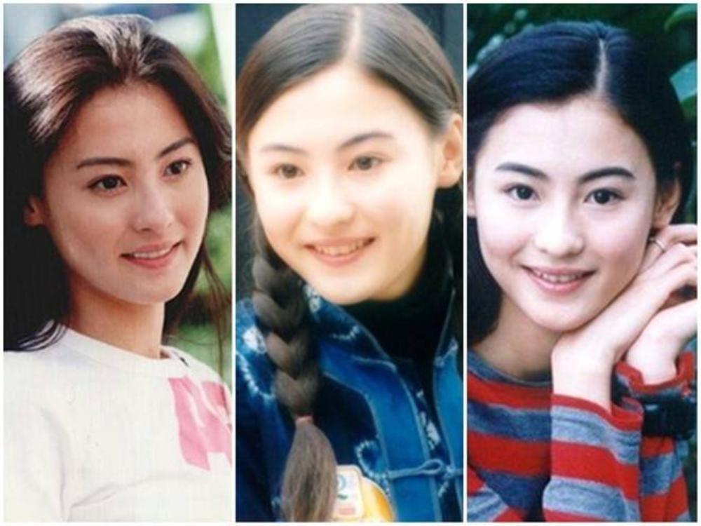 """Trương Bá Chi:Với nụ cười hồn nhiên, đôi mắt đen láy và làn da trắng mịn không tì vết, Bá Chi từng được mệnh doanh là """"ngọc nữ thanh khiết"""" của làng giải trí Hong Kong."""