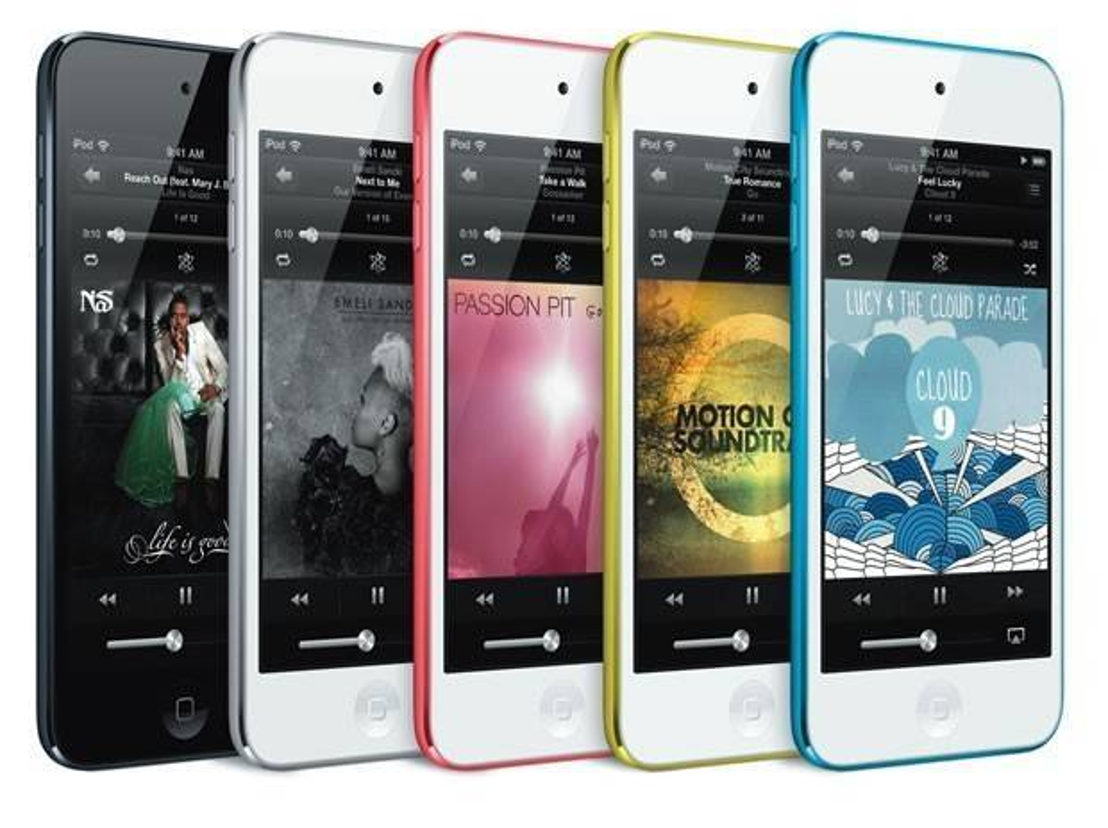 iPod Touch mới với 5 màu sắc tùy chọn. Ảnh: Apple.