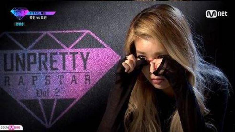 Yubin khóc sau khi thua cuộc.