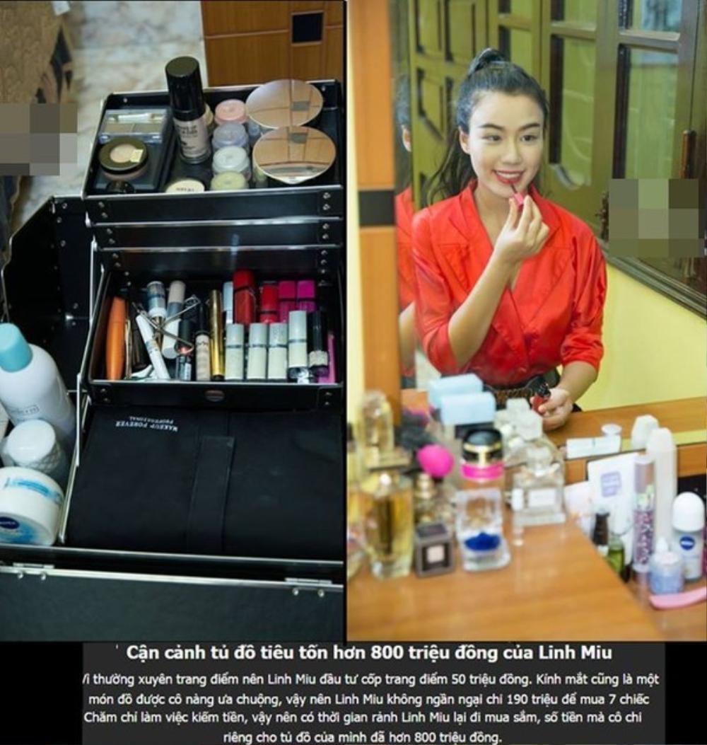 Cốp đồ trang điểm 50 triệu của Linh Miu...