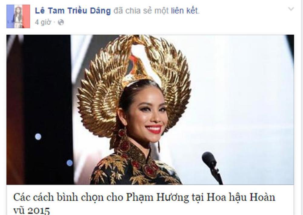 Diễn viên Tam Triều Dâng cũng ra sức kêu gọi người hâm mộ cùng bình chọn với mình.