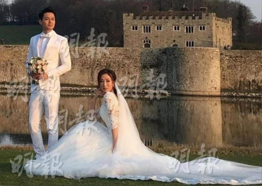La Trọng Khiêm và Dương Di chụp ảnh cưới.