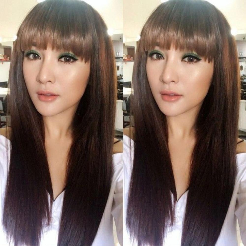 Kelly Nguyễn biến hóa thần kỳ với mái tóc mái ngố qua bàn tay của make up Hiwon.