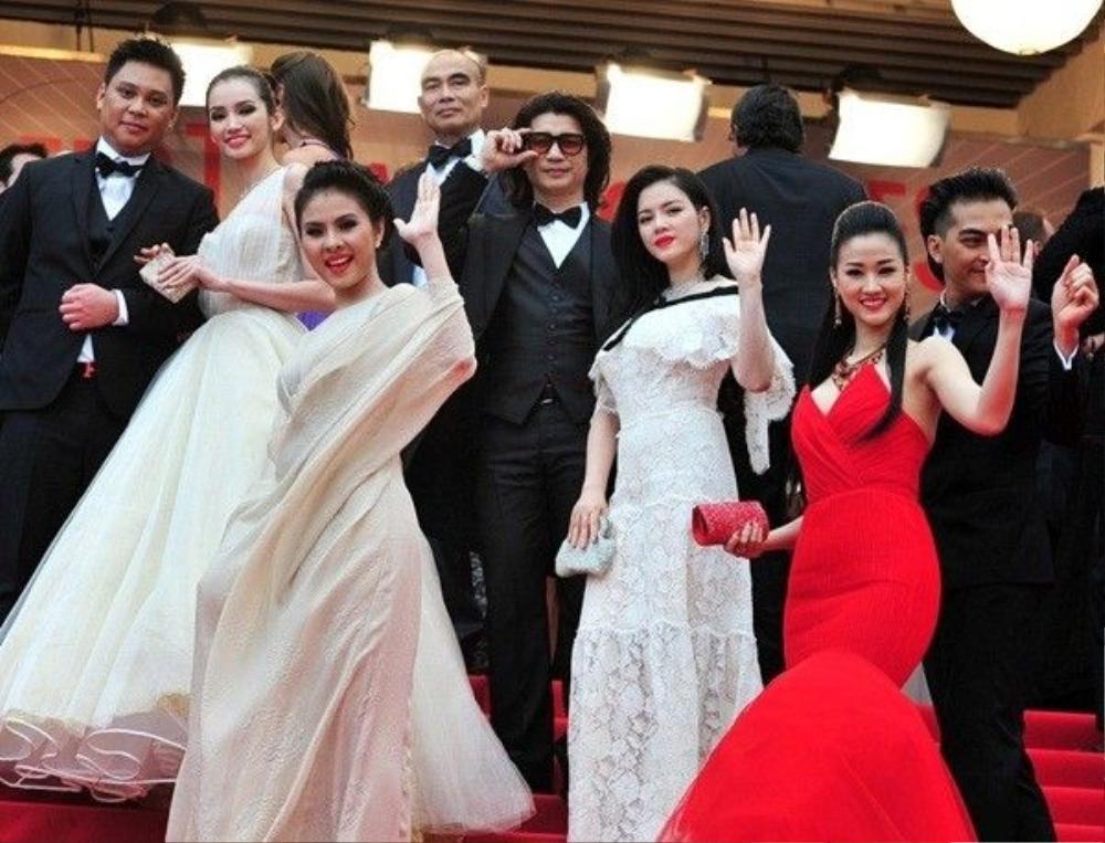Sao Việt tại thảm đỏ Cannes.