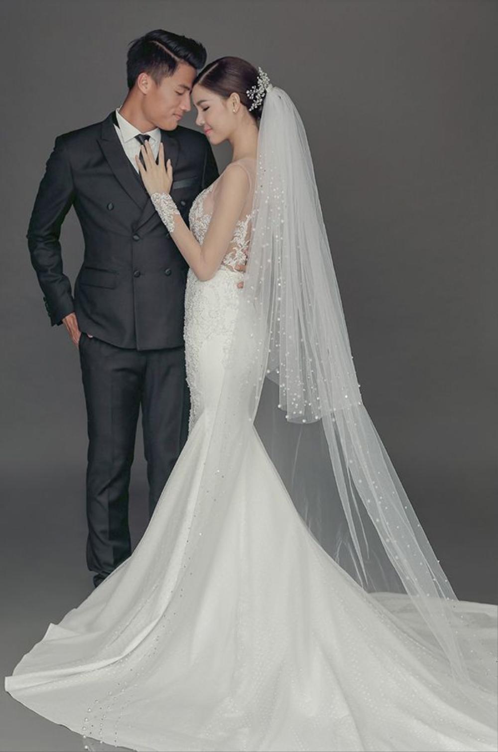 Ảnh cưới ngọt ngào của cặp đôi.