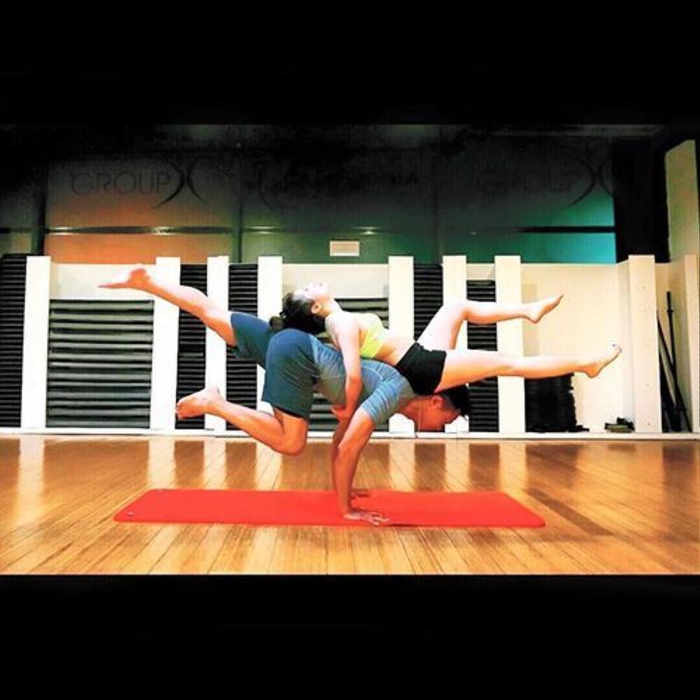 Trước đây Tú chỉ tập Yoga còn ngược lại chồng cô lại là huấn luyện viên thể hình.
