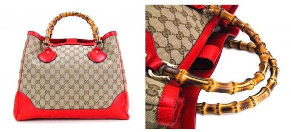 Đây là chiếc túi được biết đến như thiết kế đầu tiên của Gucci ở thế kỉ 19 với phần quai xách bằng trúc và phần da đáy được nhuộm đỏ. Đến nay, những mẫu túi này vẫn được nhiều tín đồ săn hàng vintage săn lùng.