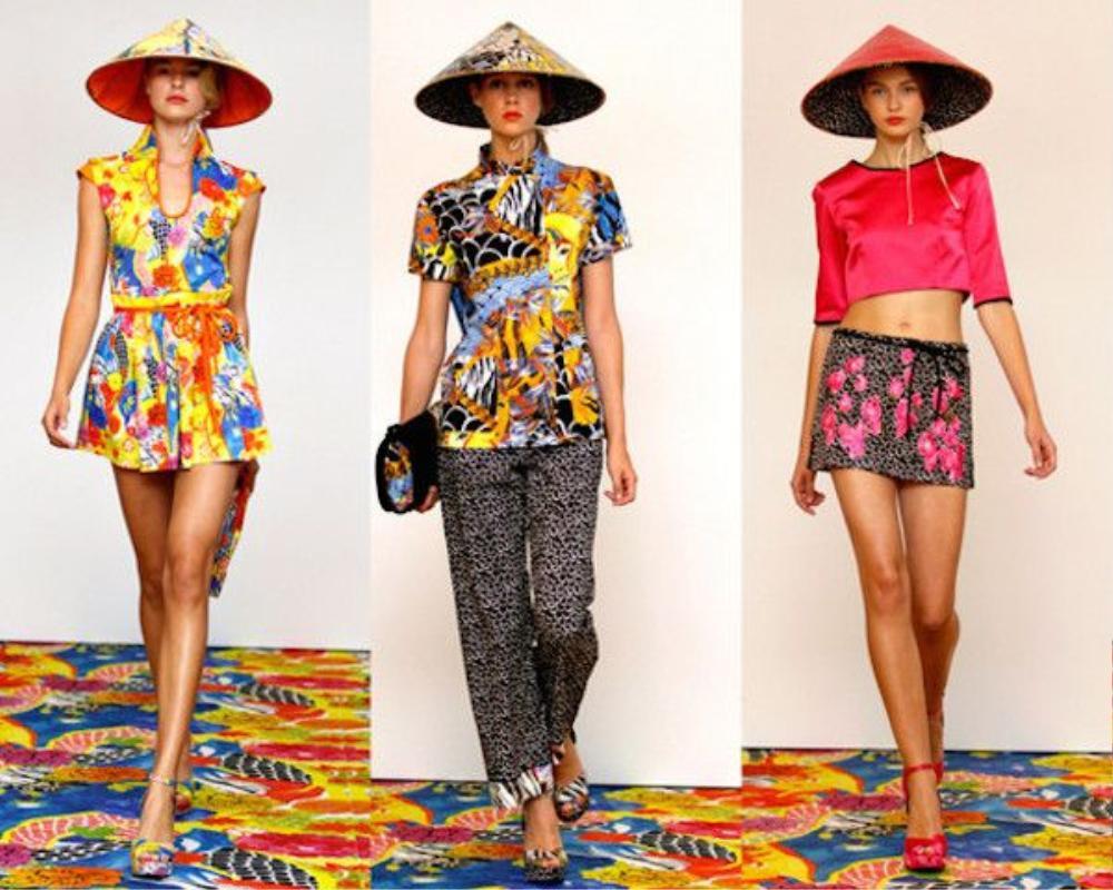 Philosophy di Alberta Ferretti thậm chí còn mang nón lá của Việt Nam chúng ta lên sàn catwalk