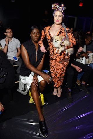 NEW YORK, NY - SEPTEMBER 14: J Alexander and Kelly Osbourne attend the Xuly Bet fashion show during New York Fashion Week: The Shows at The Dock, Skylight at Moynihan Station on September 14, 2016 in New York City. (Photo by Michael Loccisano/Getty Images for New York Fashion Week: The Shows)