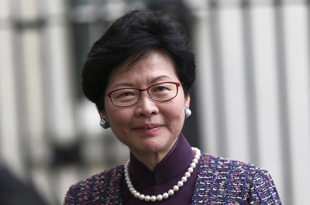"""""""Bà đầm thép Hồng Kông"""" Carrie Lam. Ảnh: IBTimes UK."""