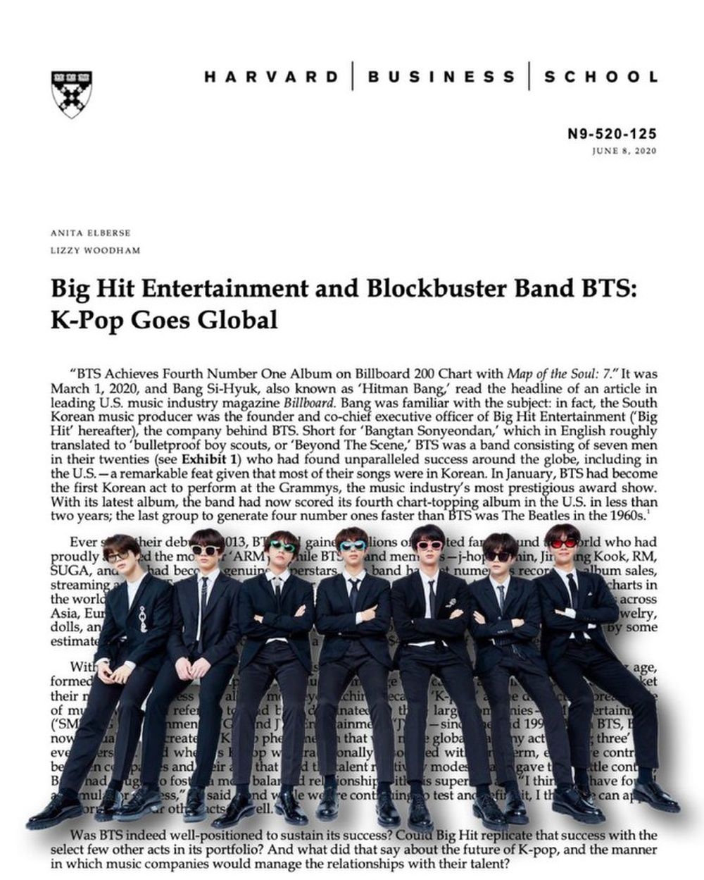 Sau thành công vang dội, nhóm nhạc BTS sẽ xuất hiện trong chương trình giảng dạy của ĐH Harvard Ảnh 3