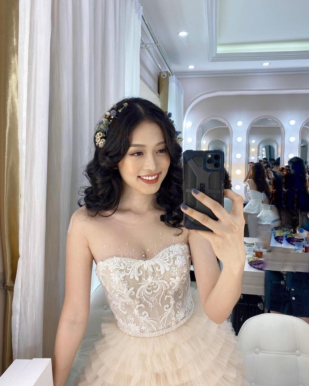 Phương Nga diện váy cưới xinh hết nấc, fan thi nhau chúc mừng chờ đón đám cưới cùng Bình An Ảnh 1