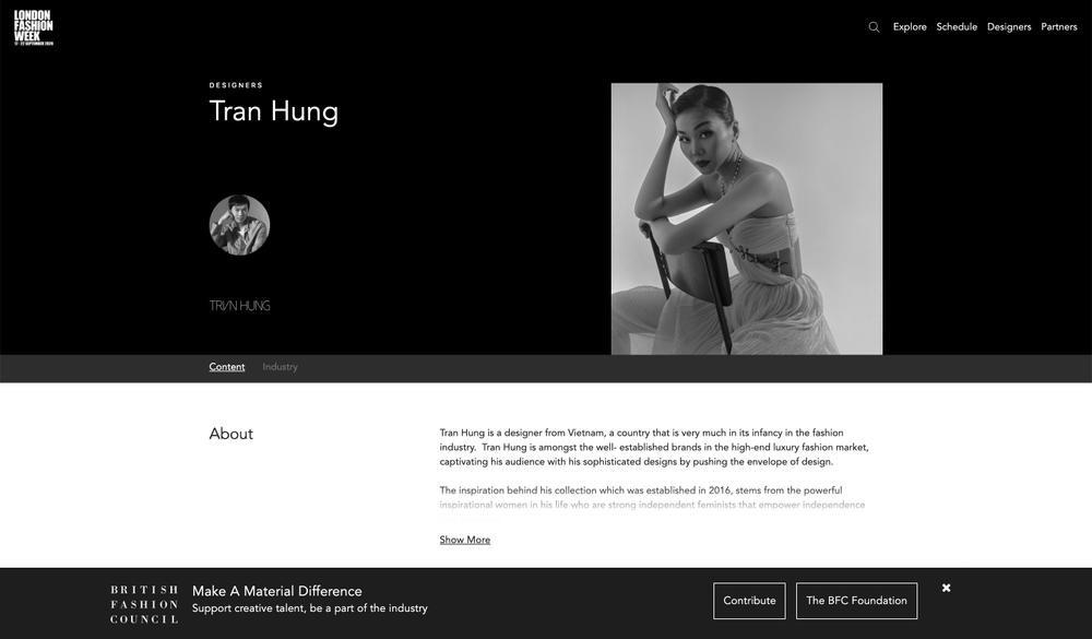 Góc tự hào: Trần Hùng chính thức trở thành thành viên nhà Thiết kế của Hiệp hội Thời trang Anh Quốc Ảnh 1
