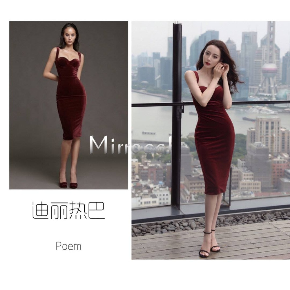 Thổn thức trước vẻ đẹp kiêu sa của Địch Lệ Nhiệt Ba trong váy đỏ cúp ngực lấp ló vòng 1 căng đầy quyến rũ Ảnh 6
