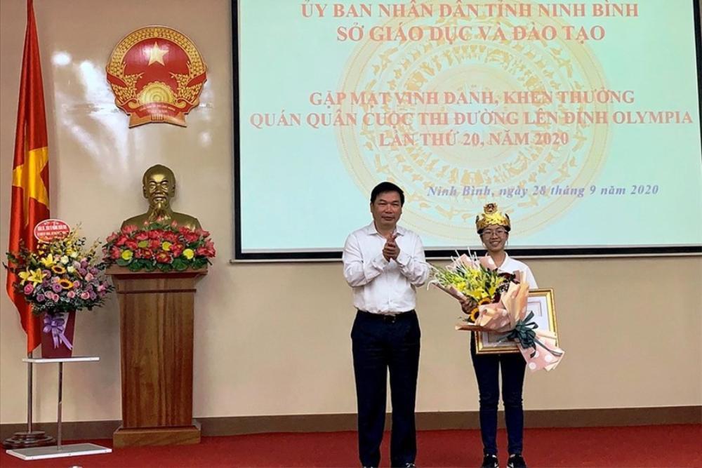 Ninh Bình vinh danh, khen thưởng Quán quân 'Đường lên đỉnh Olympia' năm thứ 20 Nguyễn Thị Thu Hằng Ảnh 2