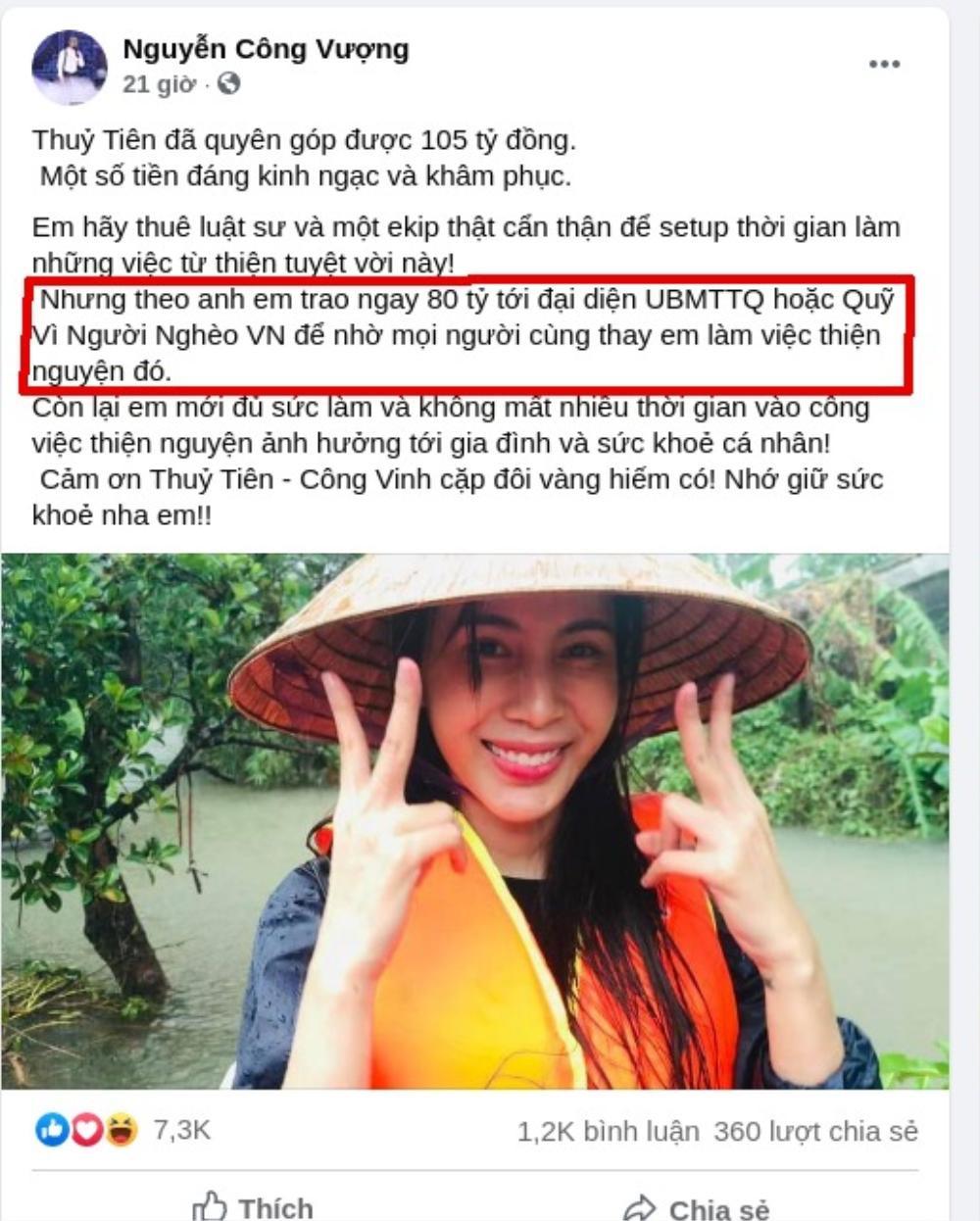 Nghệ sĩ hài Vượng Râu khuyên Thủy Tiên thuê luật sư, trao ngay 80 tỉ tới Uỷ ban MTTQ hoặc quỹ Vì người nghèo Việt Nam Ảnh 2