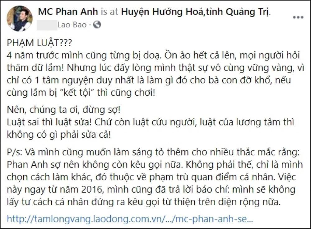 MC Phan Anh lên tiếng về việc Thủy Tiên có vi phạm pháp luật khi kêu gọi 100 tỉ đồng làm từ thiện? Ảnh 3