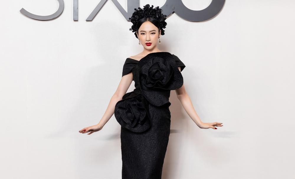 Angela Phương Trinh hoá đoá hồng đen ma mị, tái xuất thảm đỏ khiến fan say đắm Ảnh 2