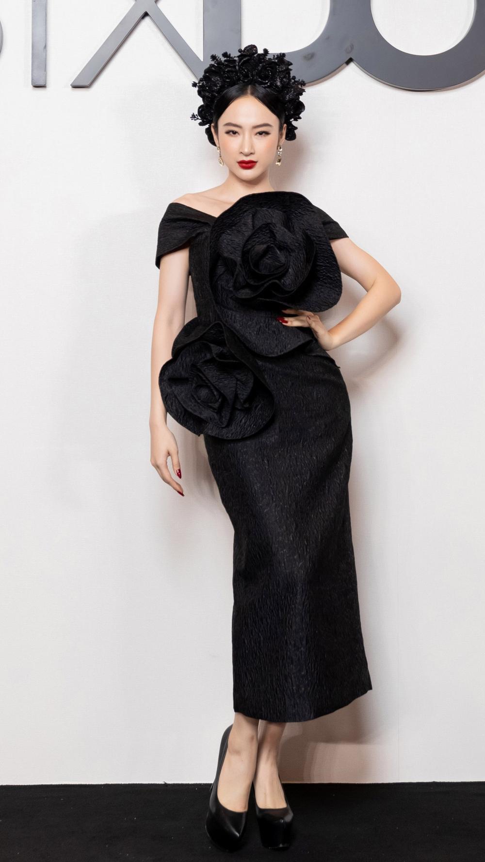 Angela Phương Trinh hoá đoá hồng đen ma mị, tái xuất thảm đỏ khiến fan say đắm Ảnh 3