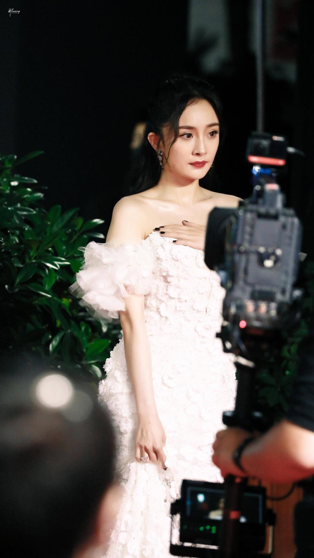 Thảm đỏ 'Đêm hội ELLE 2020': Dương Mịch đọ sắc Đường Yên - Cổ Lực Na Trát, Giang Sở Ảnh diện váy xuyên thấu Ảnh 8